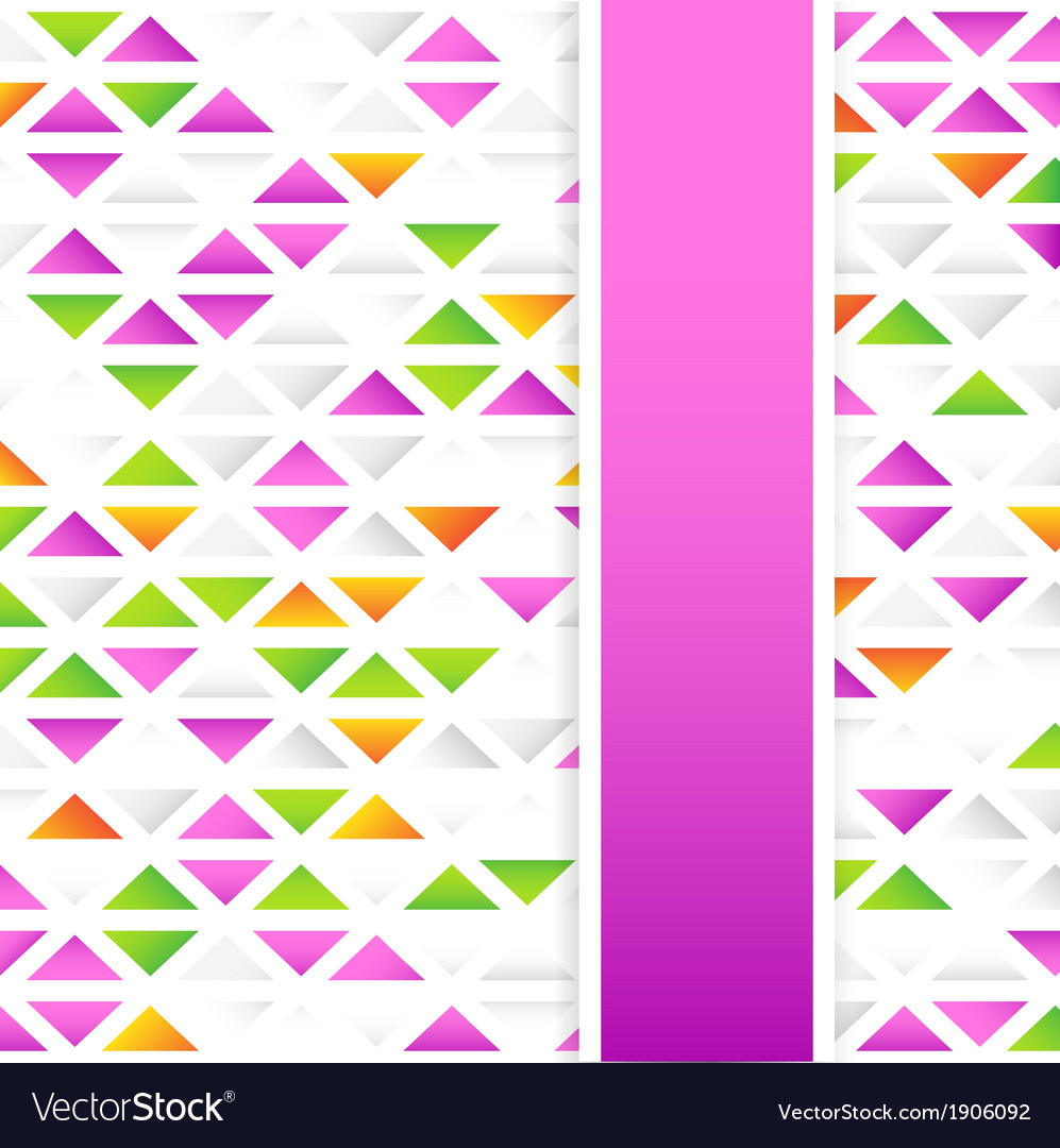 Abstract colorful triangular background vector | Price: 1 Credit (USD $1)