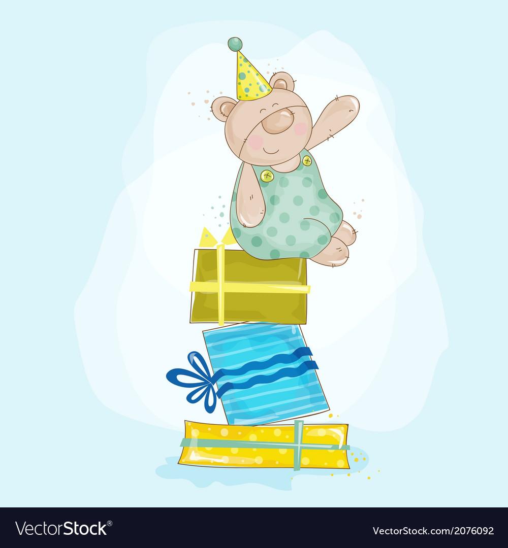 Baby bear birthday vector | Price: 1 Credit (USD $1)