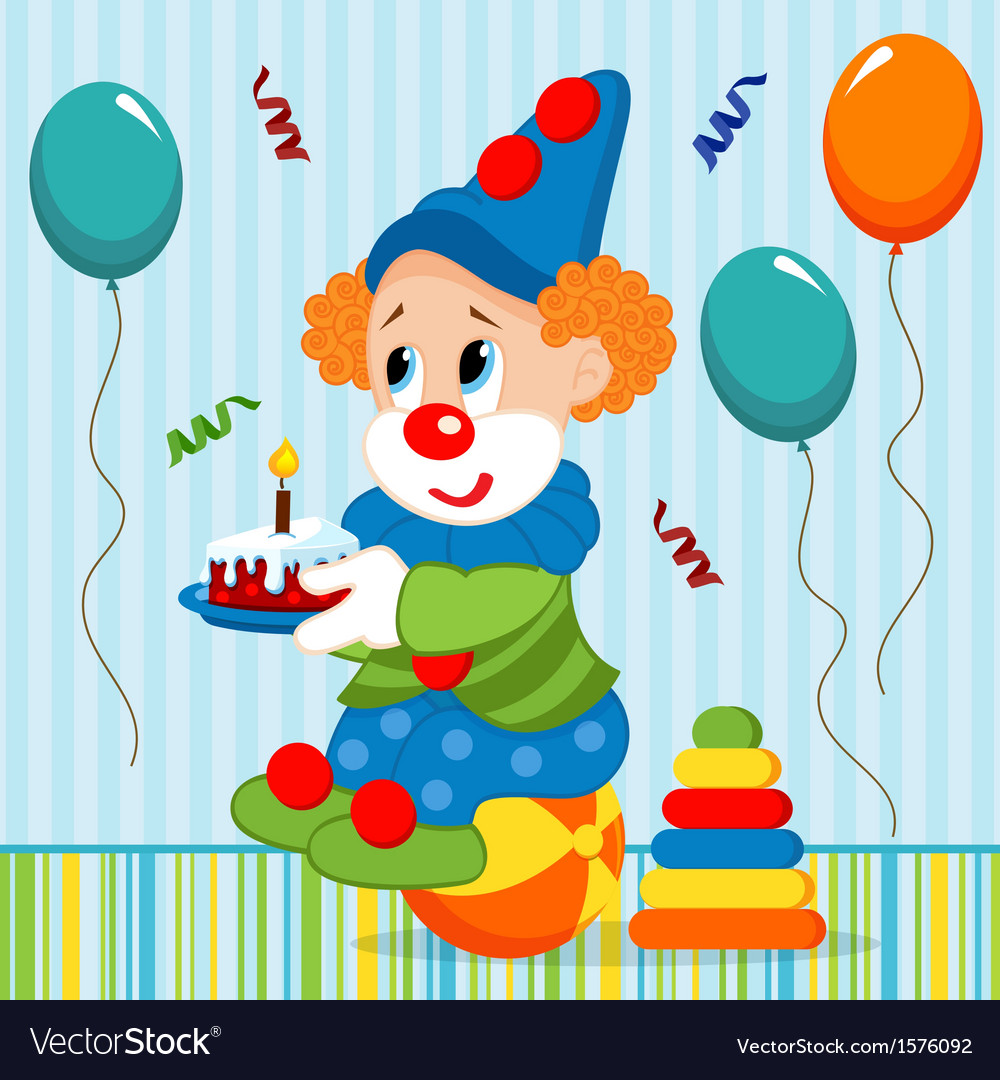 Birthday baby clown vector | Price: 3 Credit (USD $3)