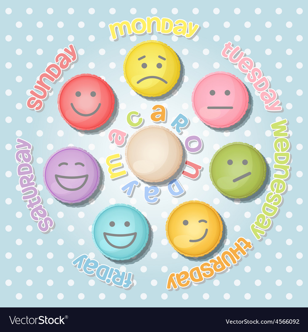 Collection of face expression on macaron vector | Price: 1 Credit (USD $1)