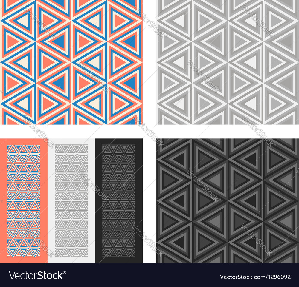 Fashion geometrical pattern with triangles vector | Price: 1 Credit (USD $1)