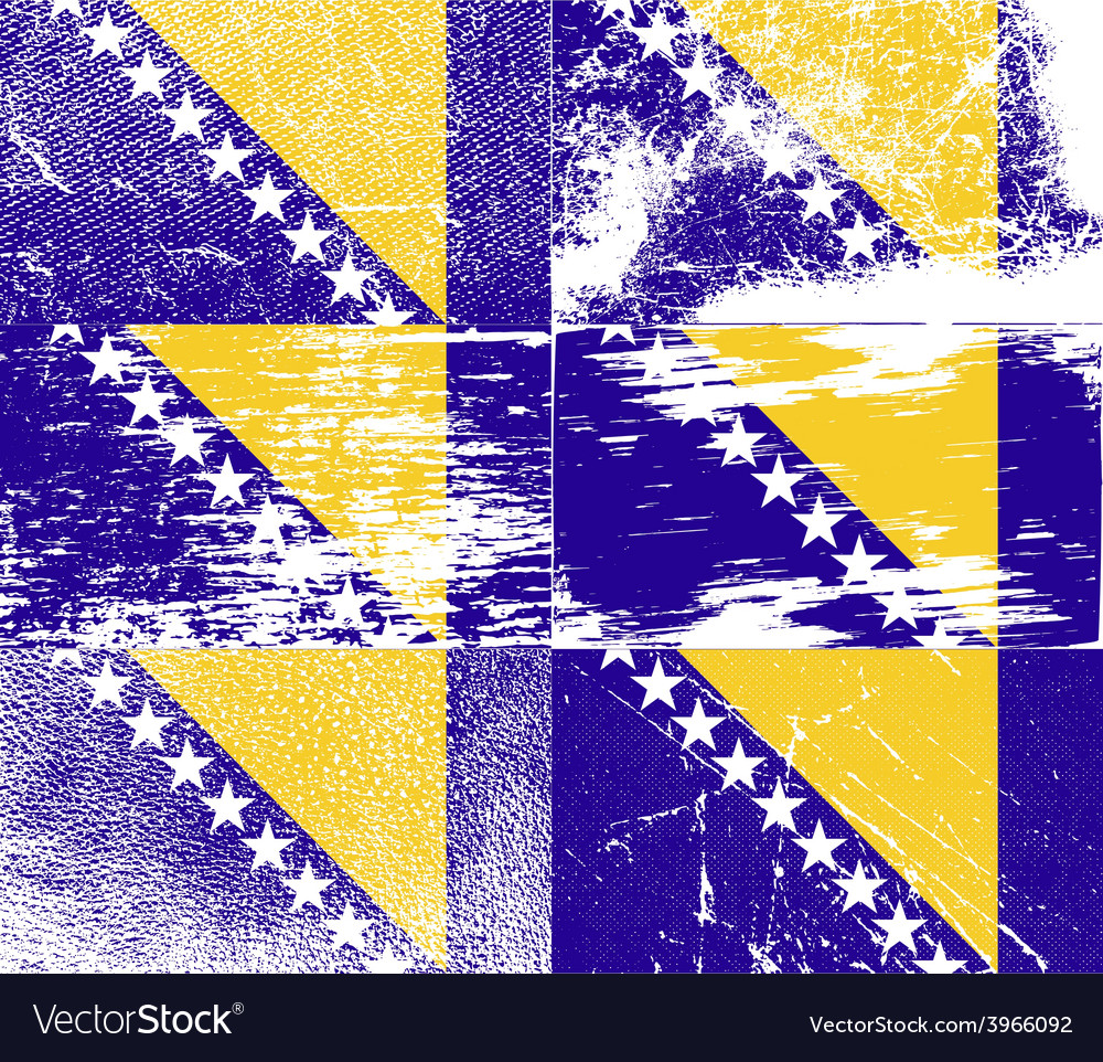 Flag of bosnia and herzegovina with old texture vector   Price: 1 Credit (USD $1)