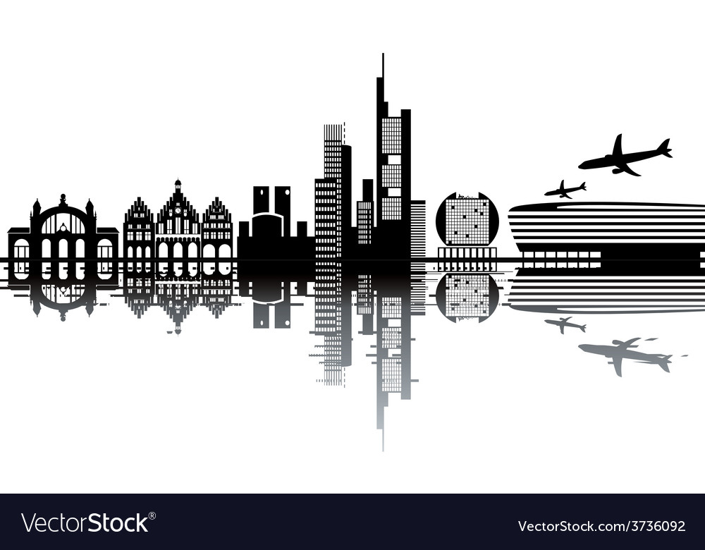 Frankfurt skyline vector | Price: 1 Credit (USD $1)