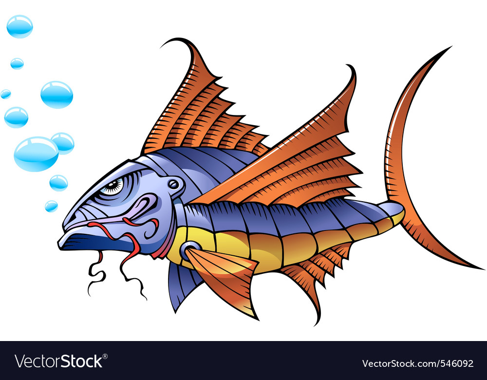 Mechanical fish vector | Price: 1 Credit (USD $1)