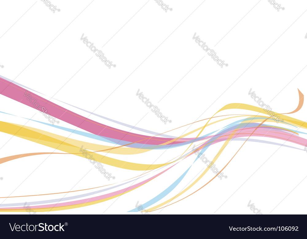 Rainbow wave line vector | Price: 1 Credit (USD $1)