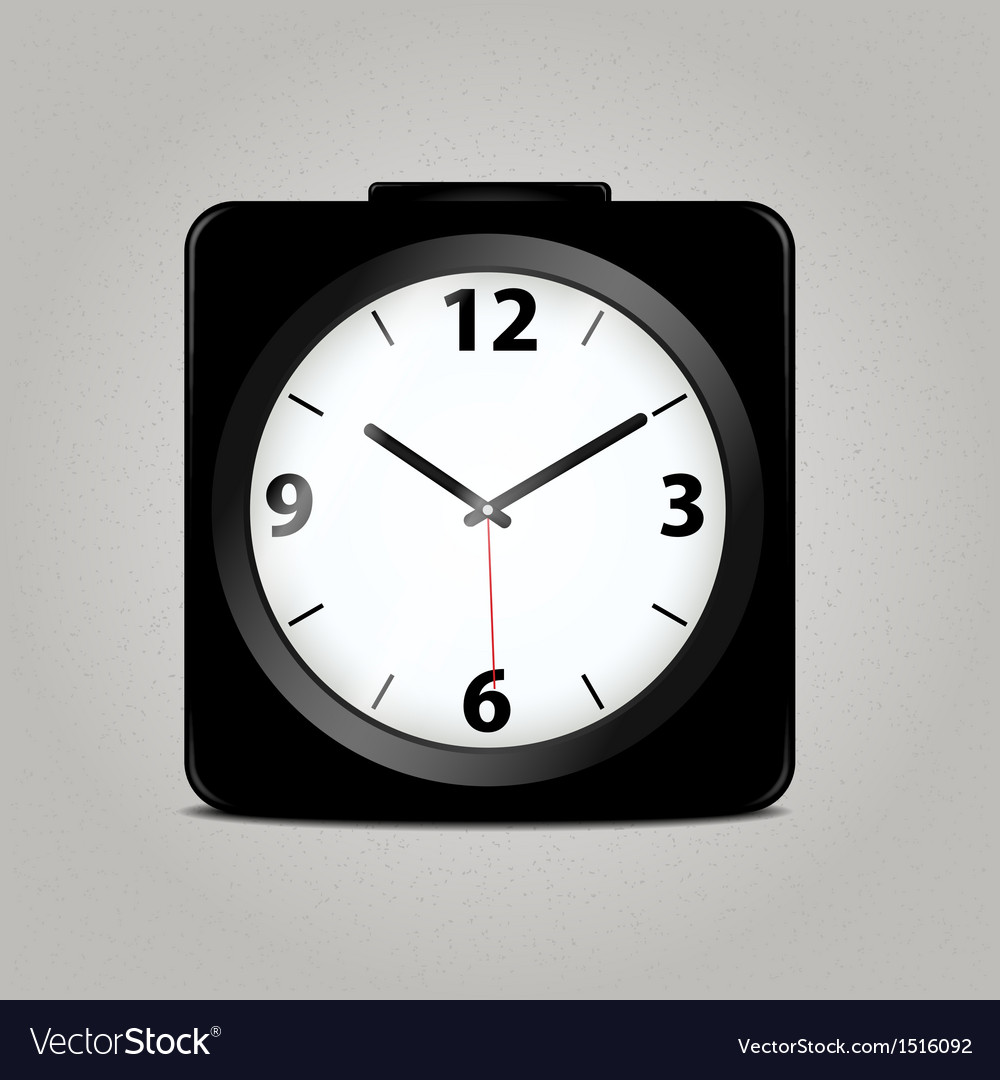 Square mechanical clock vector | Price: 1 Credit (USD $1)