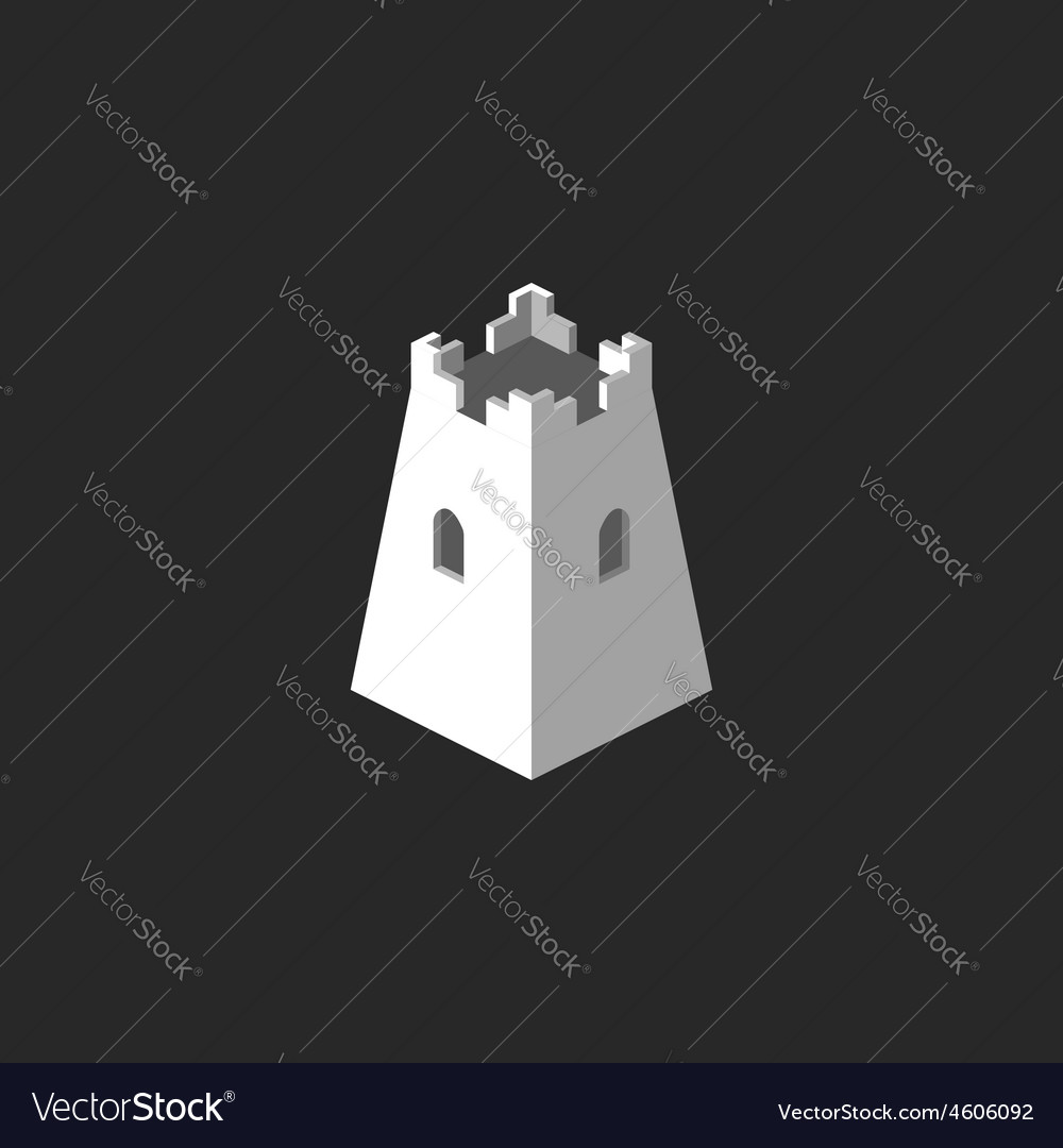 Tower abstract 3d logo mockup castle icon business vector | Price: 1 Credit (USD $1)