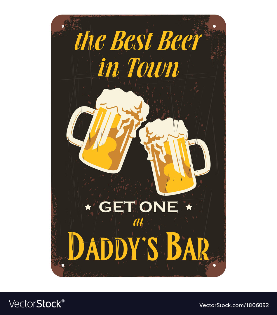 Vintage beer advertisement poster design vector | Price: 1 Credit (USD $1)
