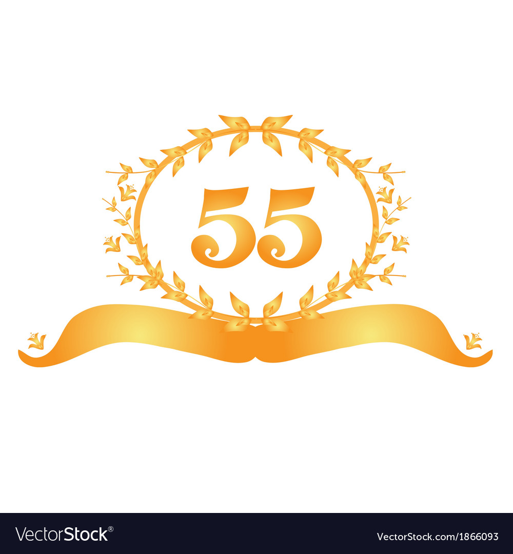 55th anniversary banner vector | Price: 1 Credit (USD $1)