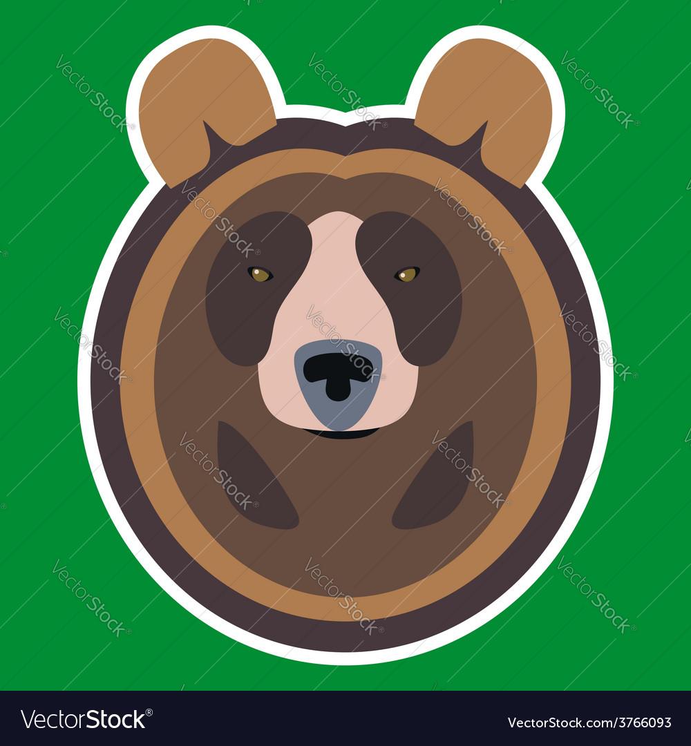 Brown bear head vector | Price: 1 Credit (USD $1)