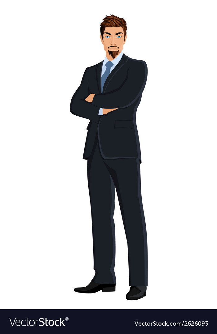 Business man isolated on white vector | Price: 1 Credit (USD $1)