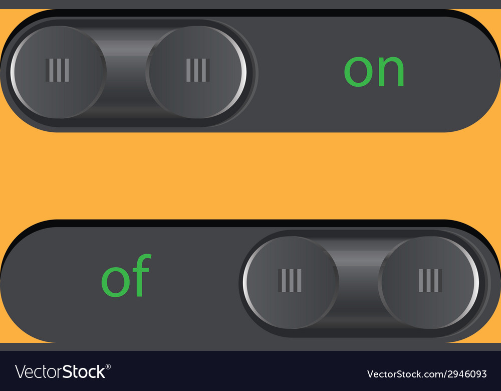 Button on of vector | Price: 1 Credit (USD $1)
