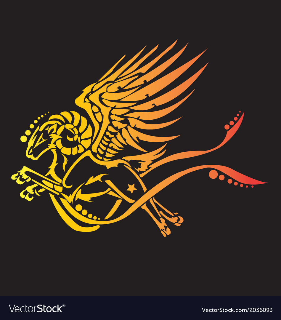 Fier heraldic griffin vector | Price: 1 Credit (USD $1)