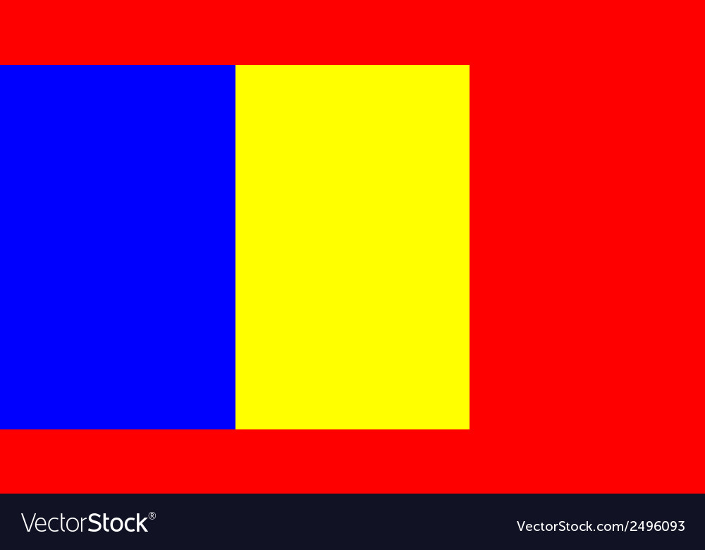 Flag of romania vector | Price: 1 Credit (USD $1)