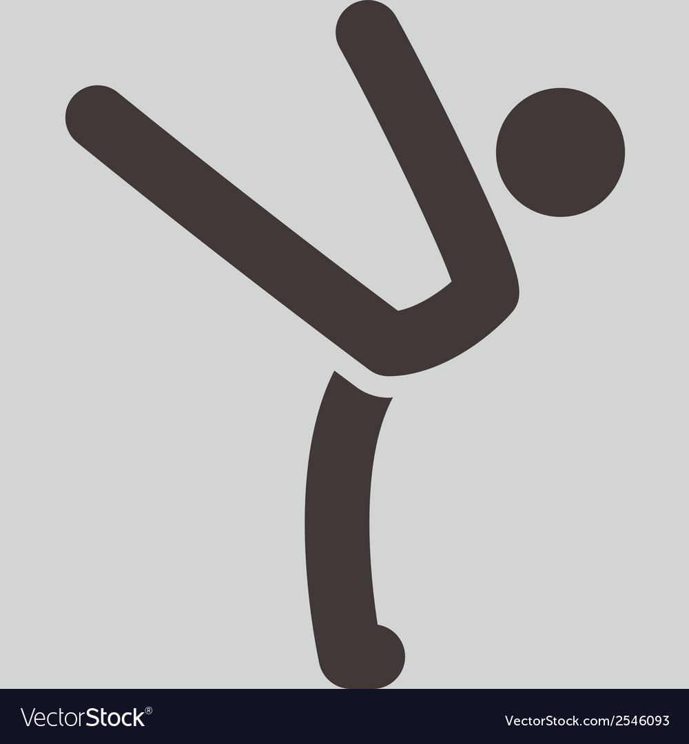 Gymnastics rhythmic icon vector | Price: 1 Credit (USD $1)