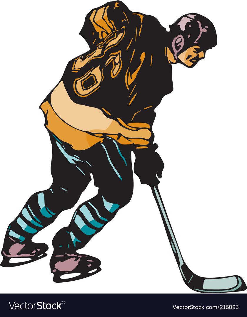 Hockey vector | Price: 1 Credit (USD $1)