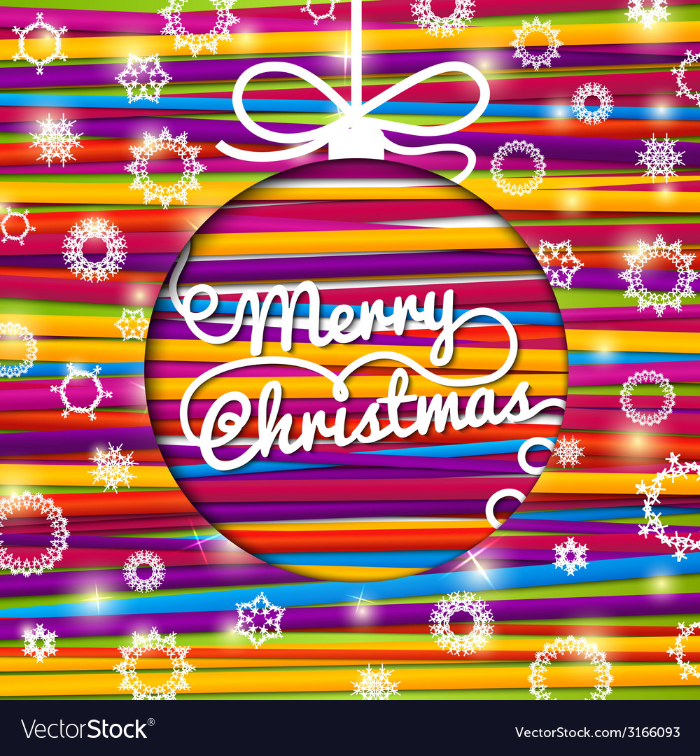 Merry christmas greeting card made from bundle of vector | Price: 1 Credit (USD $1)