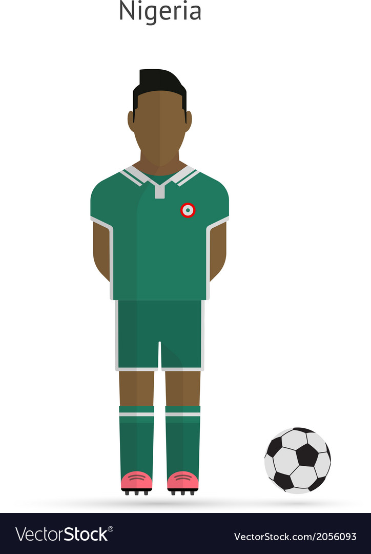 National football player nigeria soccer team vector | Price: 1 Credit (USD $1)