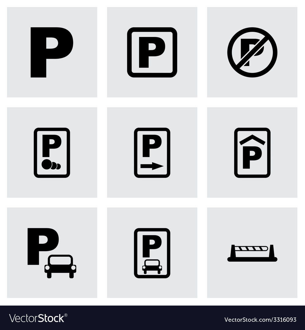 Parking icon set vector | Price: 1 Credit (USD $1)