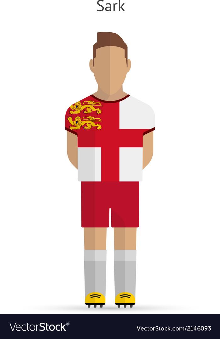 Sark football player soccer uniform vector | Price: 1 Credit (USD $1)