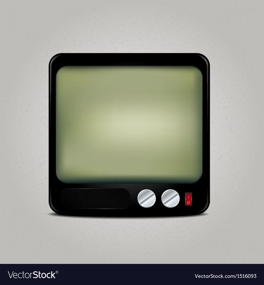 Square retro tv icon vector | Price: 1 Credit (USD $1)