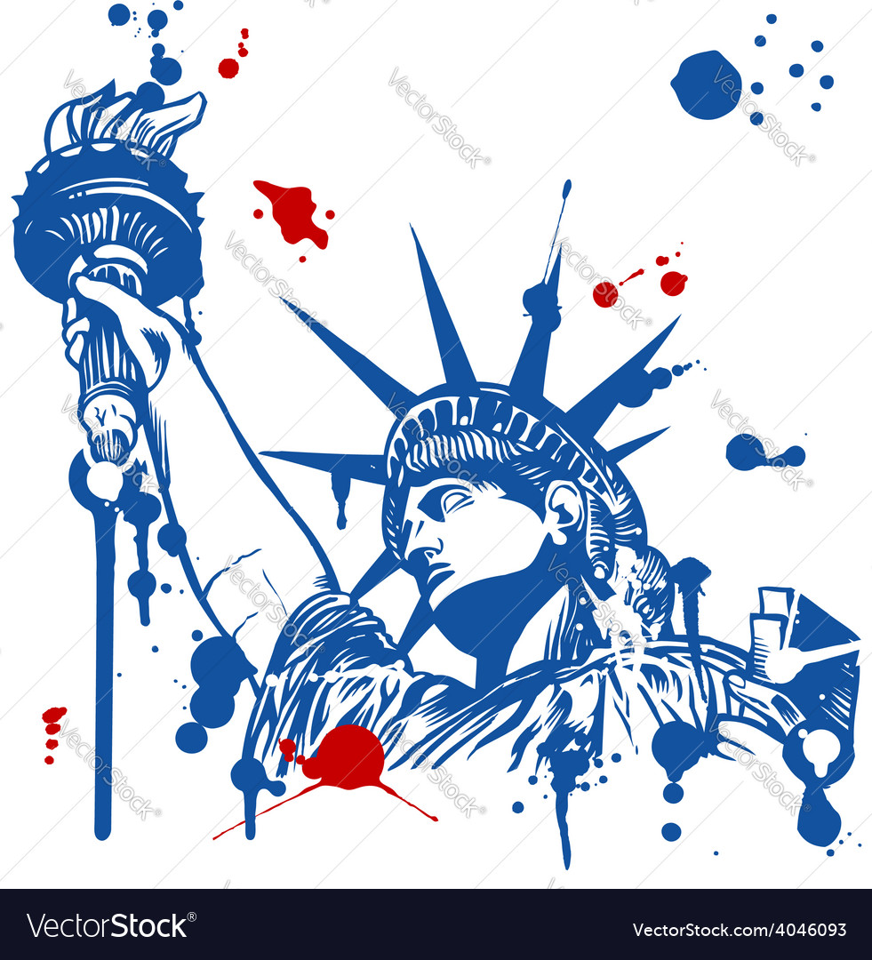 Statue of liberty with torch vector | Price: 1 Credit (USD $1)