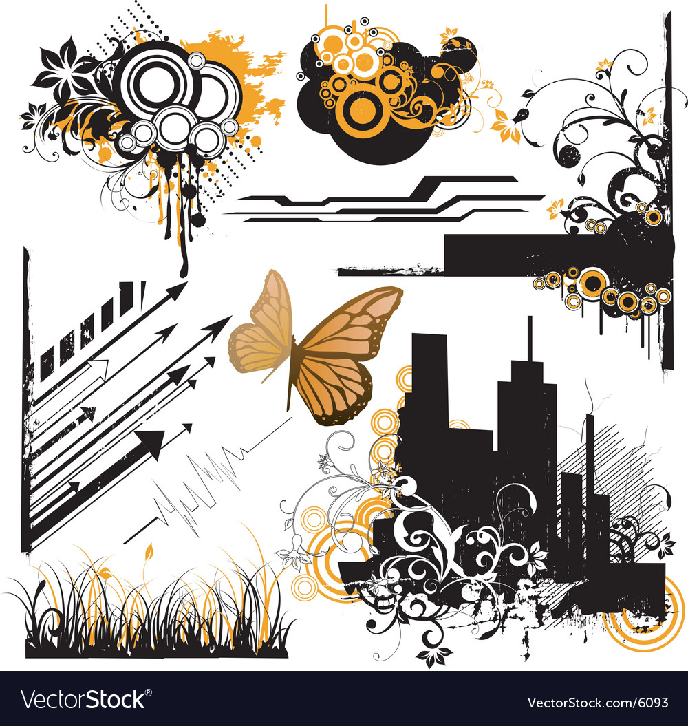 Urban design elements vector | Price: 5 Credit (USD $5)