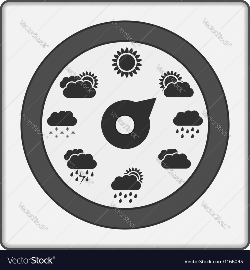 Weather indicator vector | Price: 1 Credit (USD $1)