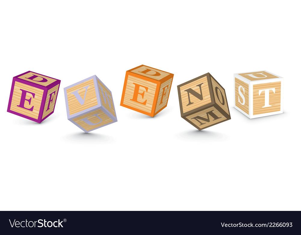 Word event written with alphabet blocks vector | Price: 1 Credit (USD $1)