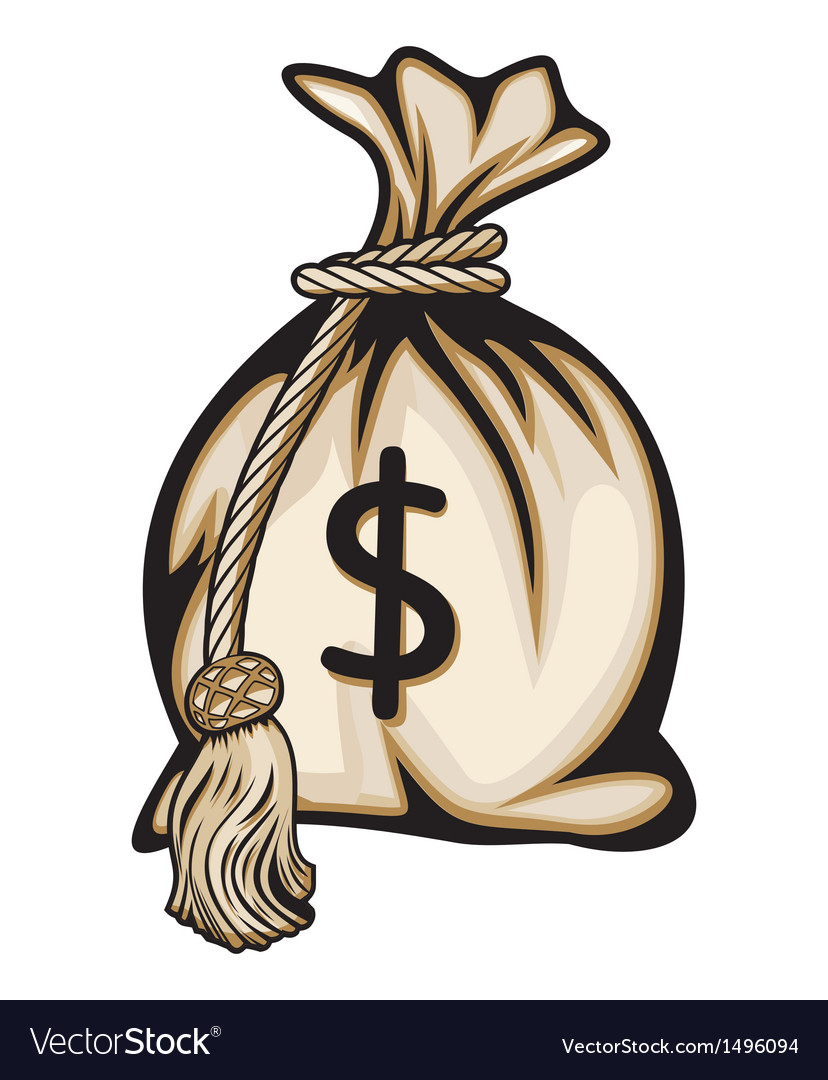 Dollar money bag vector | Price: 1 Credit (USD $1)