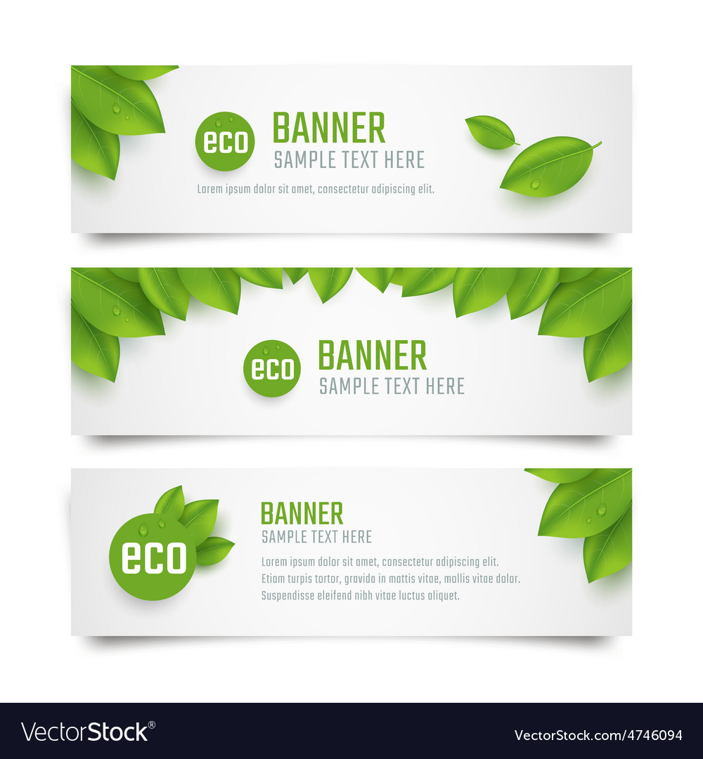 Eco banners vector | Price: 1 Credit (USD $1)