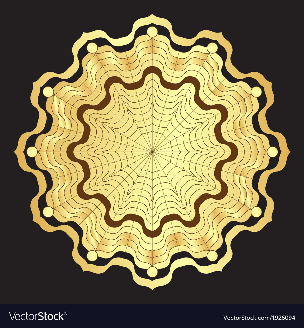 Gold round elegance frame vector | Price: 1 Credit (USD $1)