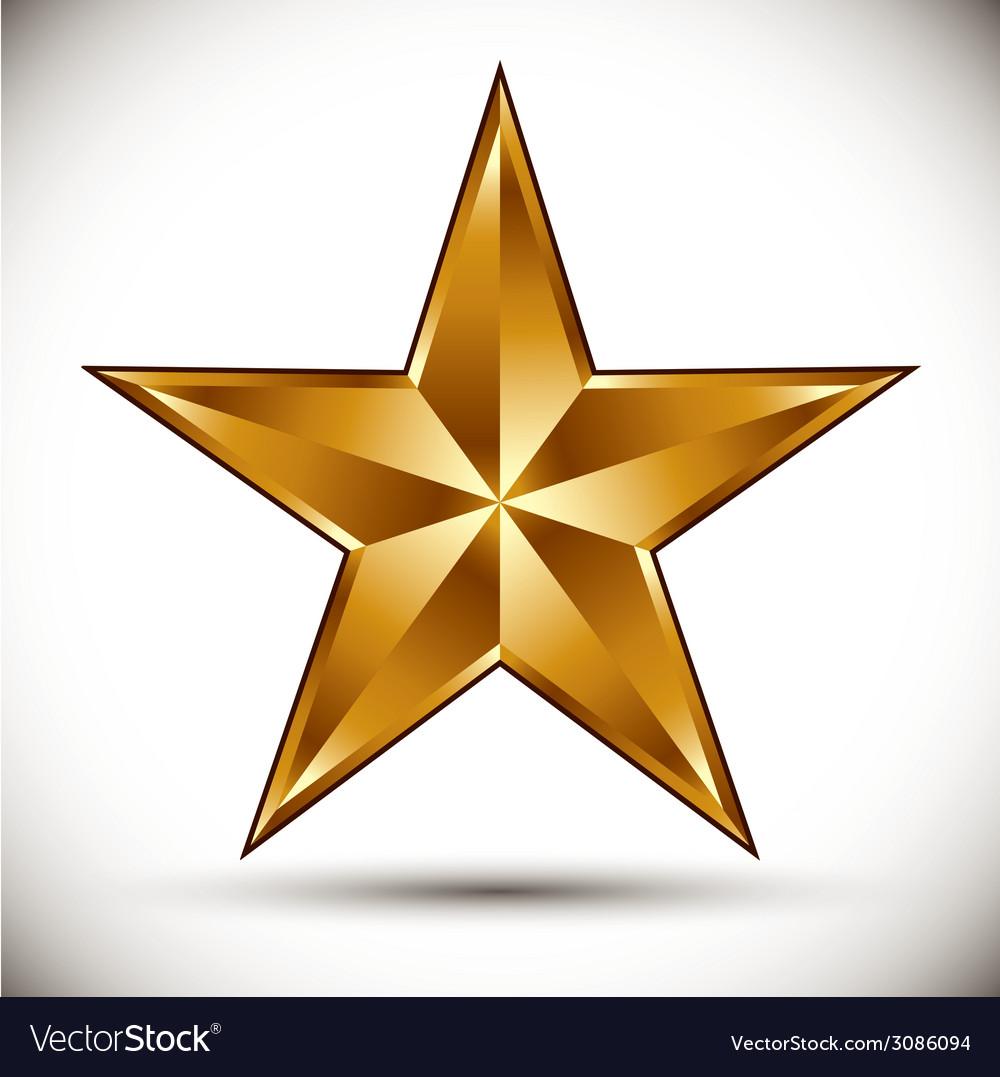 Golden star vector | Price: 1 Credit (USD $1)