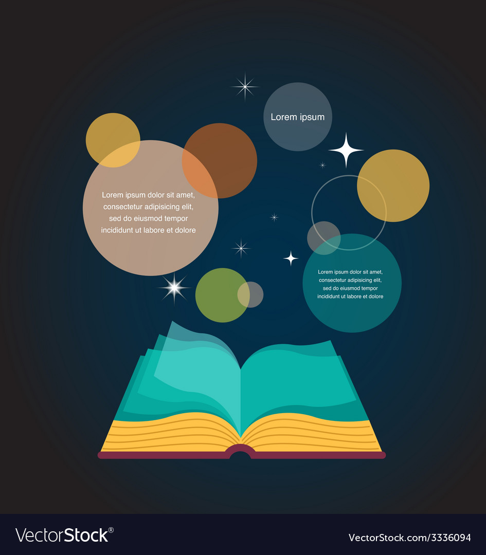 Open book concept design vector