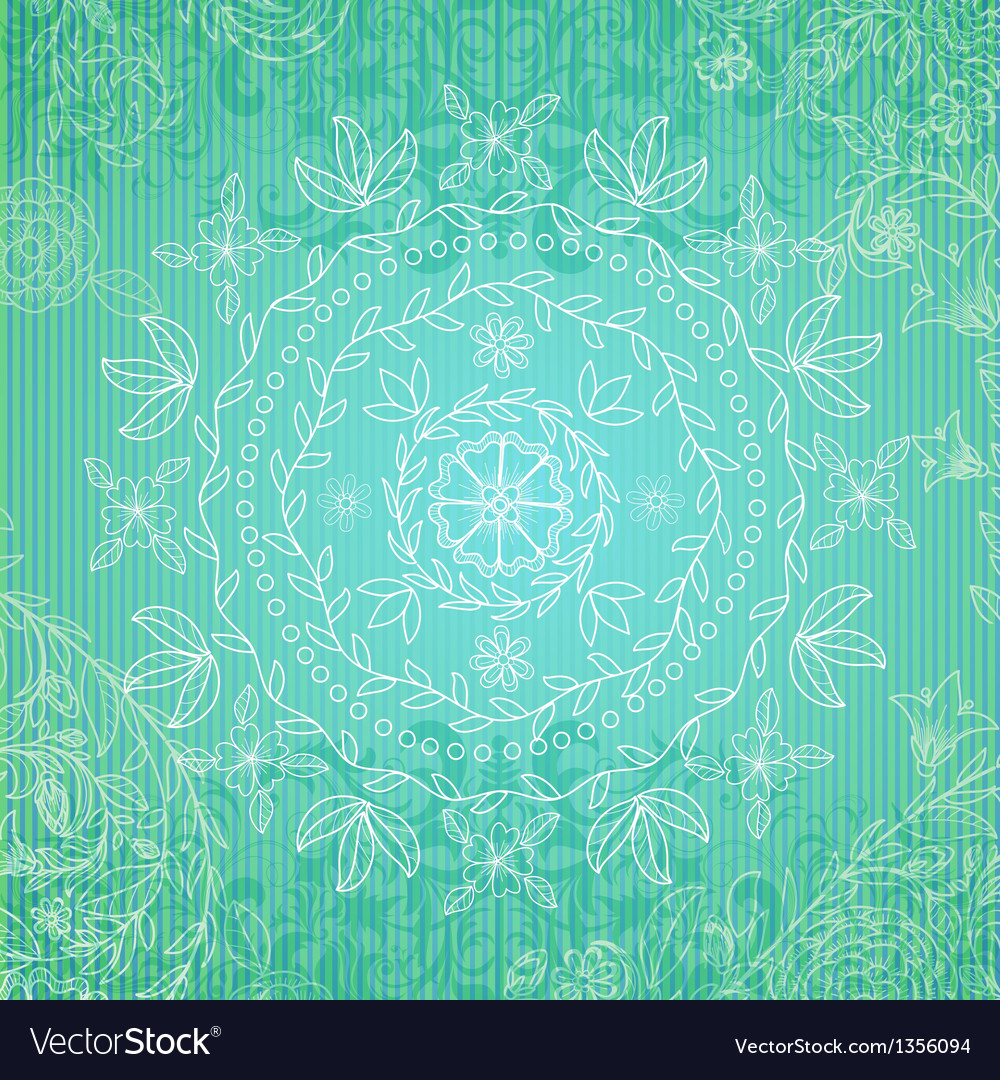 Ornamental floral round pattern vector   Price: 1 Credit (USD $1)