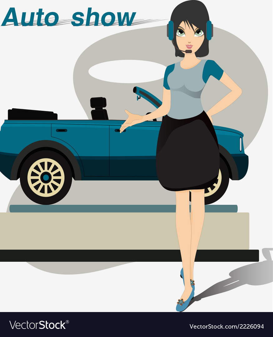 Pretty motor show vector | Price: 1 Credit (USD $1)