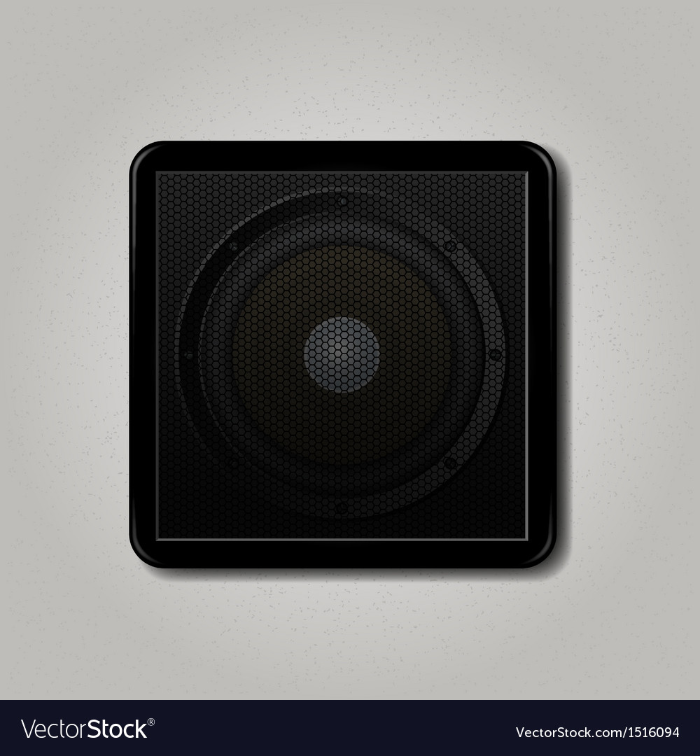 Square speaker icon vector | Price: 1 Credit (USD $1)