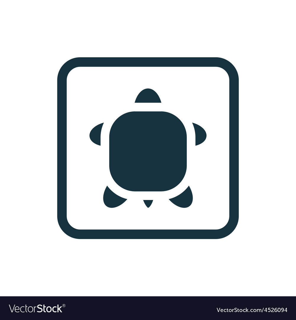 Turtle icon rounded squares button vector | Price: 1 Credit (USD $1)