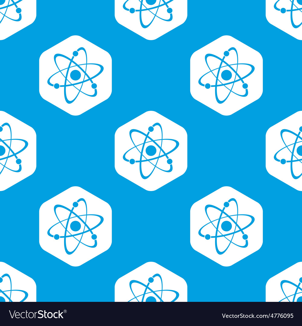 Atom hexagon pattern vector | Price: 1 Credit (USD $1)