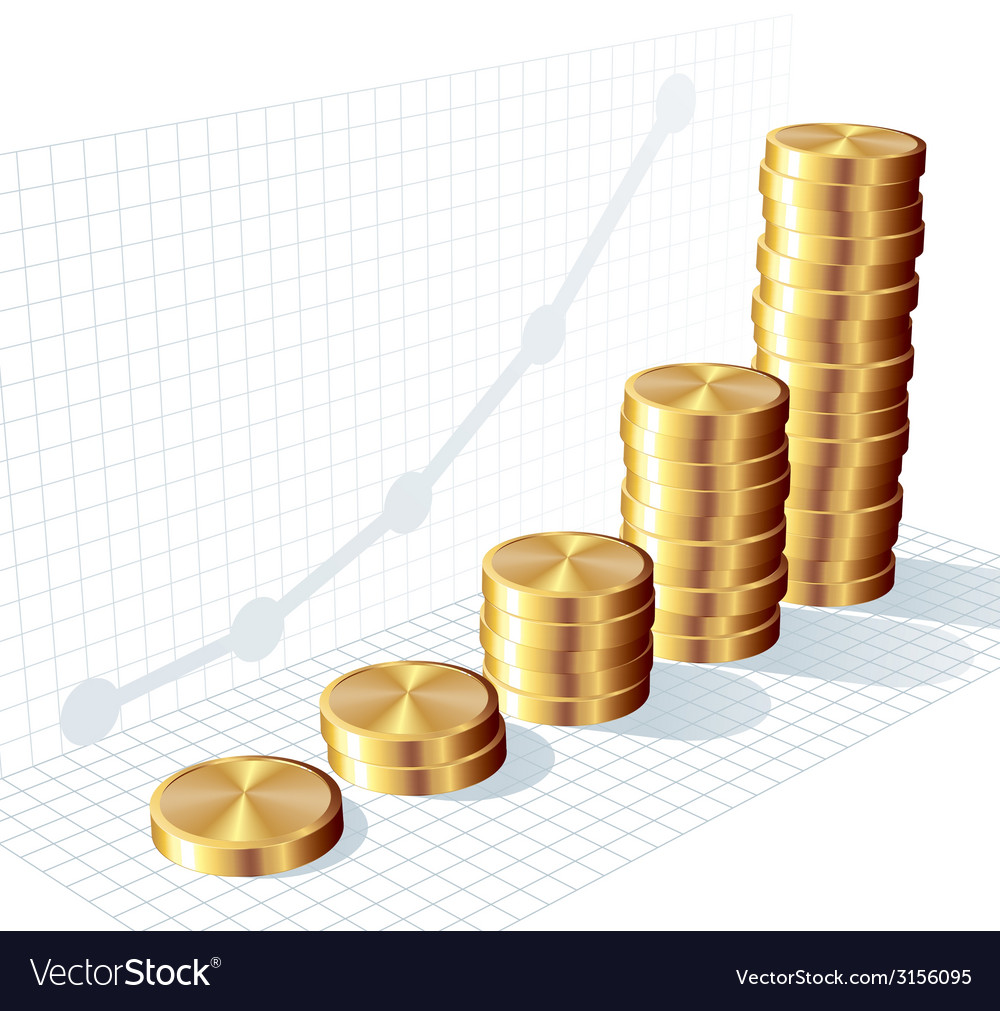 Coin graph vector | Price: 1 Credit (USD $1)
