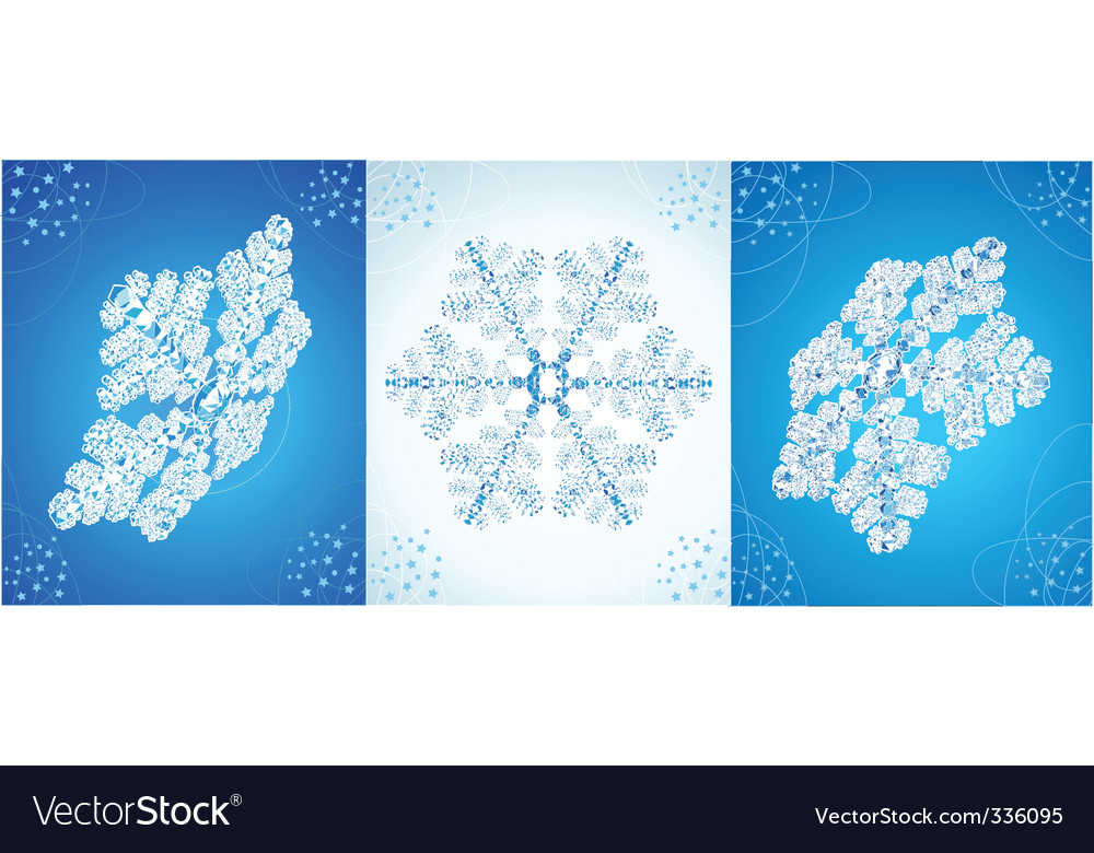 vector crystal snowflak vector | Price: 1 Credit (USD $1)
