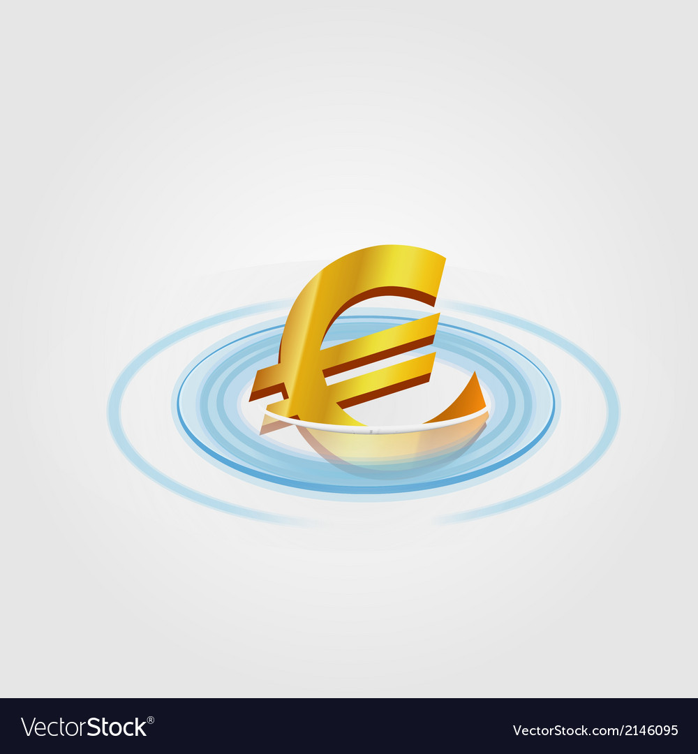 Euro ripple currency vector | Price: 1 Credit (USD $1)