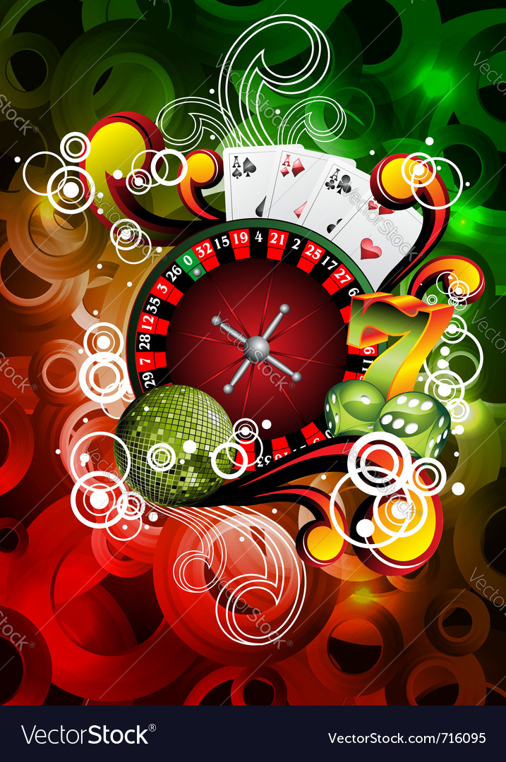 Gambling roulette wheel vector | Price: 1 Credit (USD $1)
