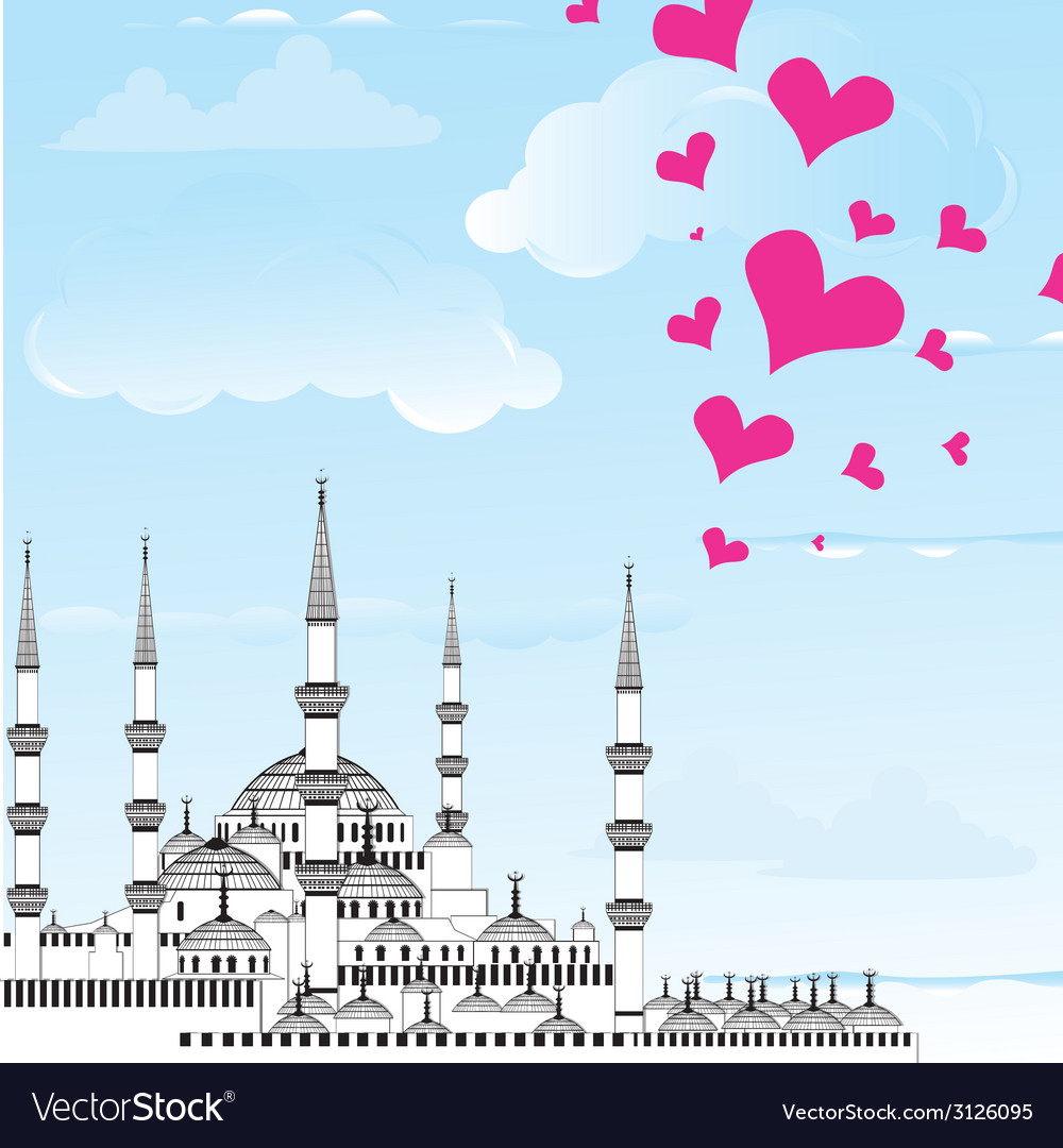 I love istanbul design vector | Price: 1 Credit (USD $1)