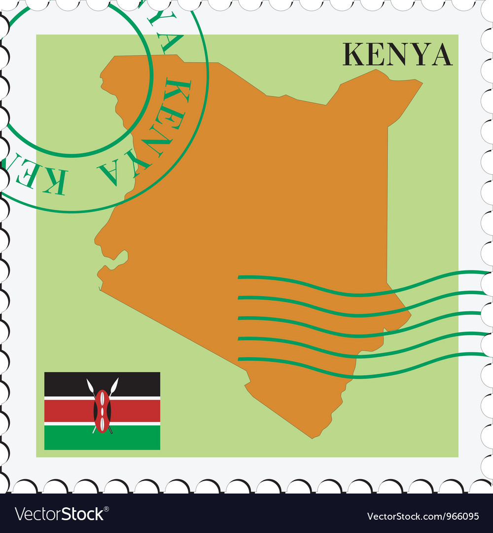 Mail to-from kenya vector | Price: 1 Credit (USD $1)