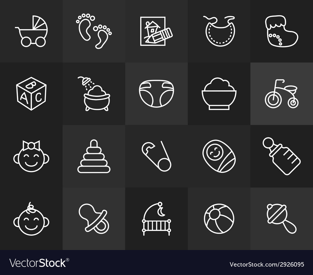 Outline icons thin flat design modern line stroke vector | Price: 1 Credit (USD $1)