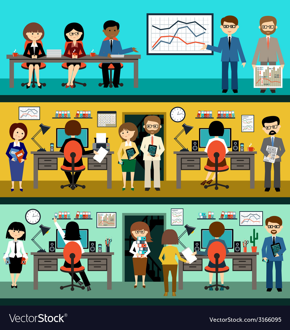 People in the style flat design vector | Price: 1 Credit (USD $1)