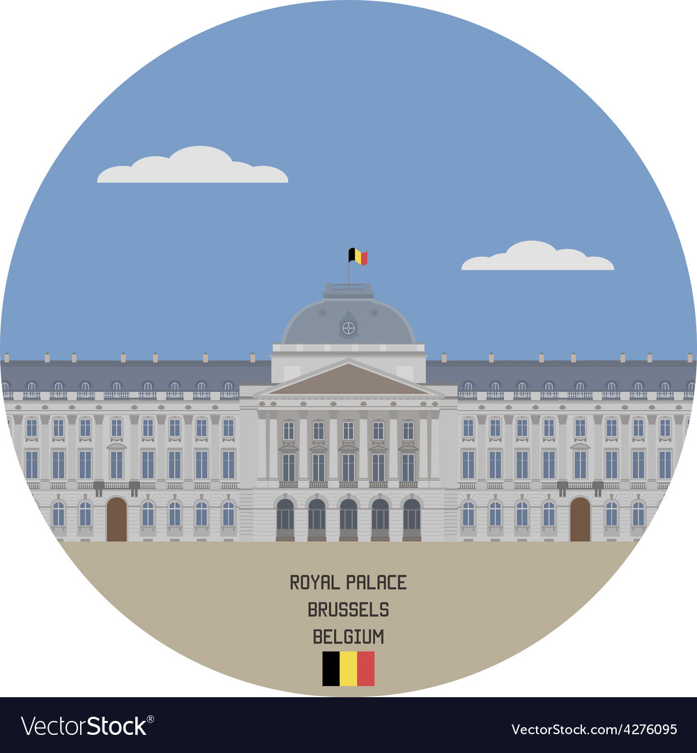 Royal palace brussels vector | Price: 1 Credit (USD $1)