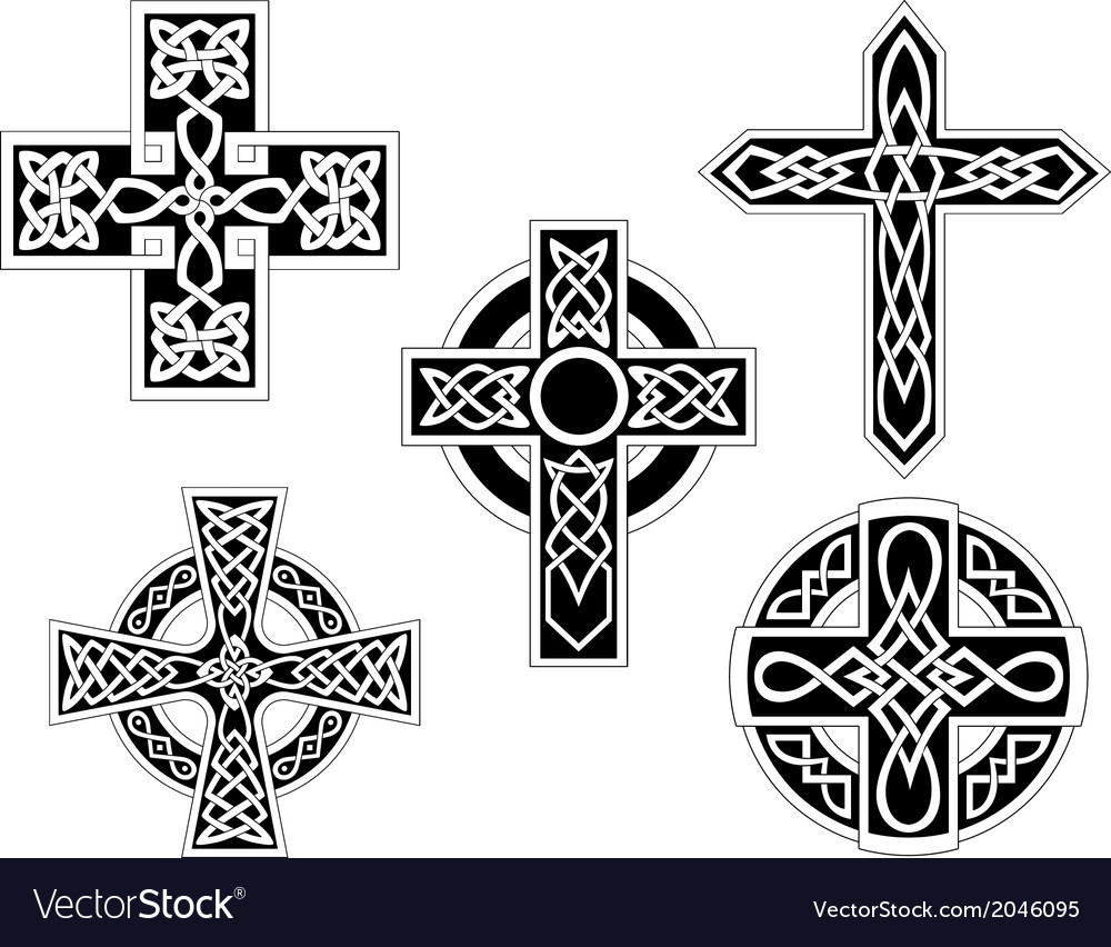 Set of celtic crosses vector | Price: 1 Credit (USD $1)