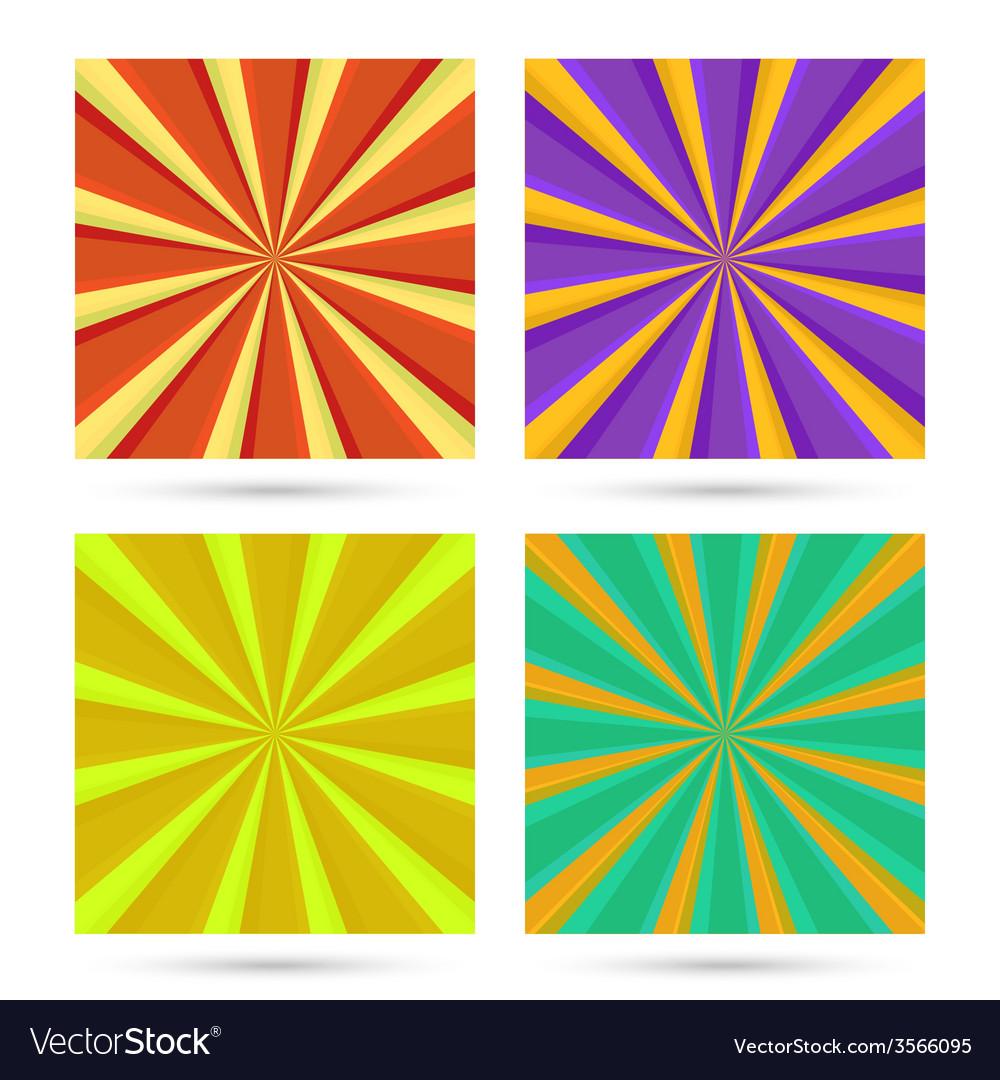 Set of sunburst backgrounds vector   Price: 1 Credit (USD $1)